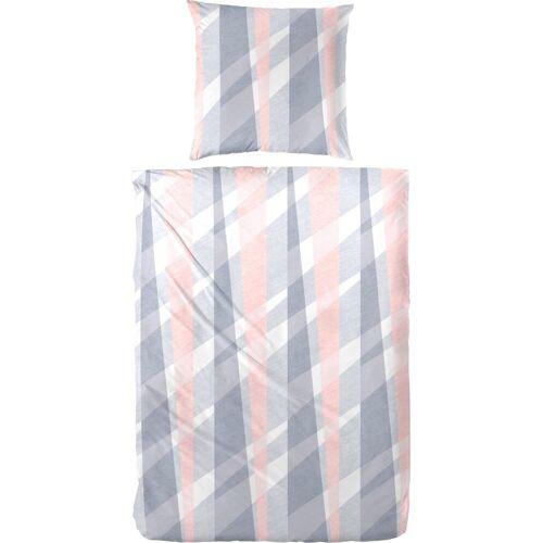 Bettwäsche »Mats«, mit Muster, rosa-grau