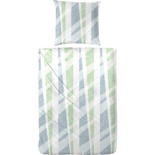 Bettwäsche »Mats«, mit Muster, grün-grau