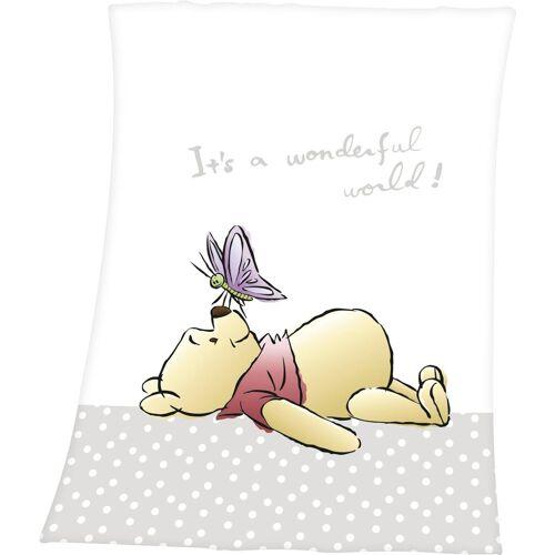 Disney Walt Disney Babydecke »Winnie the Pooh«, , mit niedlichem Motiv