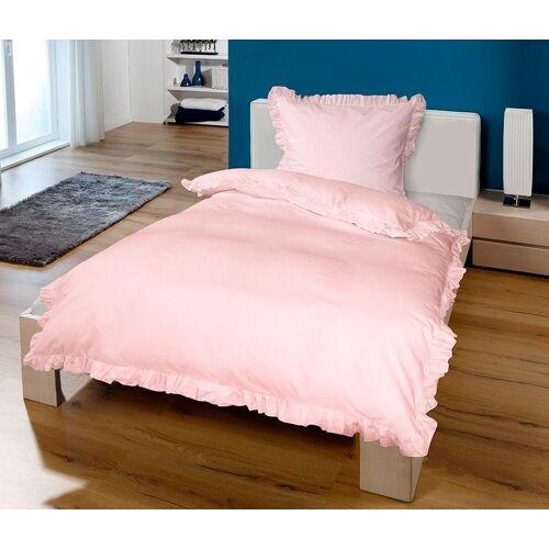 Goldmond Bettwäsche »Rüschen«, , mit Rüschen, rosa