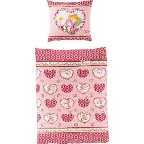 Prinzessin Lillifee Kinderbettwäsche »Herz«, , mit Herzen und Blumen