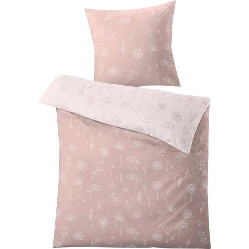 Kleine Wolke Wendebettwäsche »Leone«, , mit Pusteblumen, rose