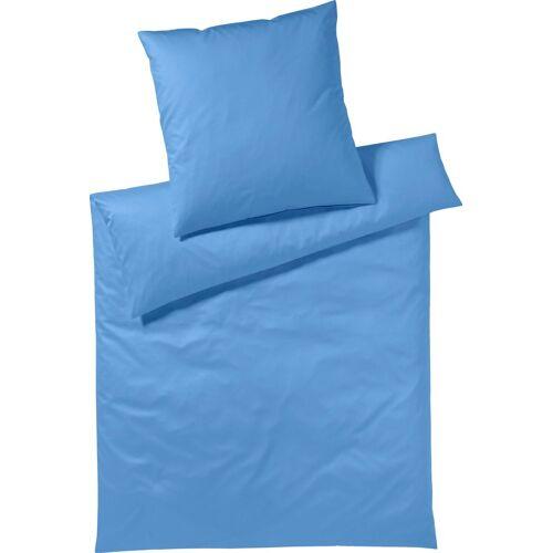 Yes for Bed Bettwäsche »Pure & Simple Uni«, , aus hochwertigem Mako-Satin, azur