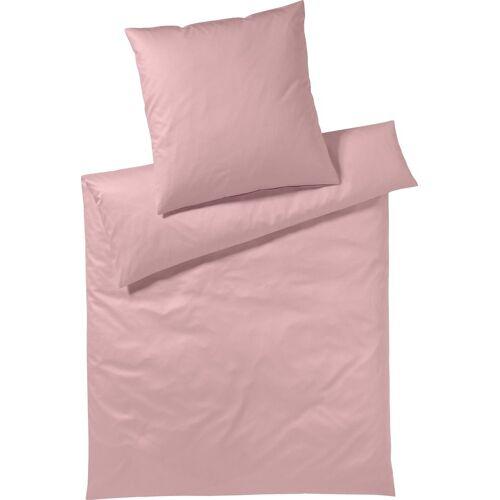 Yes for Bed Bettwäsche »Pure & Simple Uni«, , aus hochwertigem Mako-Satin, rose