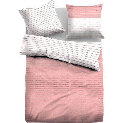TOM TAILOR Wendebettwäsche »Marie«, , mit gepunkteten Streifen, rosé