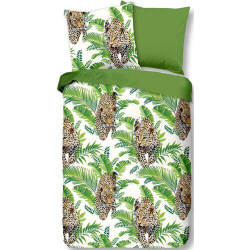 good morning Wendebettwäsche »Jungle«, , mit Leoparden