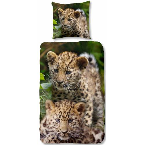good morning Kinderbettwäsche »Leopards«, , mit Baby Leopard