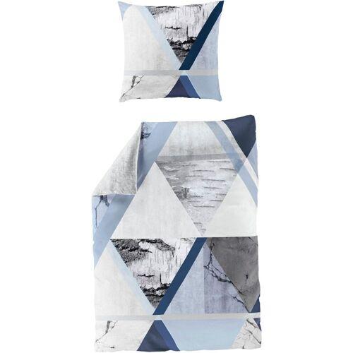 BIERBAUM Wendebettwäsche »Cold blue«, , Digitaldruck