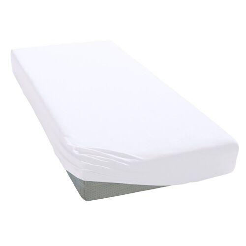Elegante Spannbettlaken »Uni Zwirn-Jersey«, , aus hochwertigem Garn, weiß