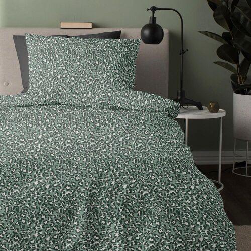 damai Bettwäsche »Roarr«, , mit Leoparden-Print, green