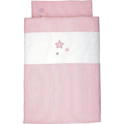 Sterntaler® Kinderbettwäsche »Sterne«, , mit Sternen, rosé