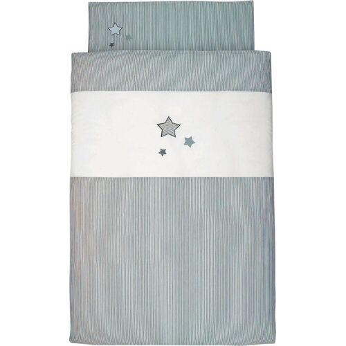 Sterntaler® Kinderbettwäsche »Sterne«, , mit Sternen, grau