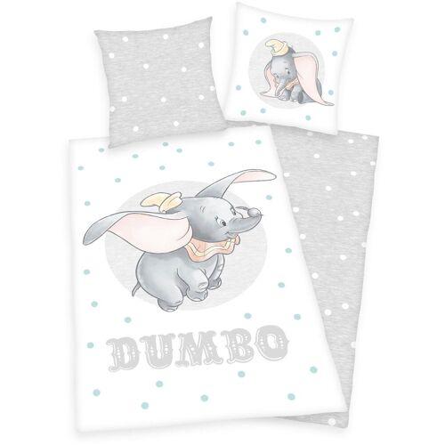 Disney Walt Disney Kinderbettwäsche »Disney´s Dumbo«, , mit Punkten und Elefantenmotiv