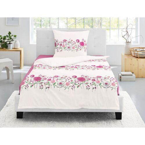 Irisette Bettwäsche »Capri-K 8084«, , mit floraler Blumenbordüre, rosé