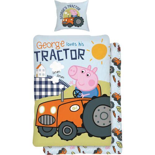 Kinderbettwäsche »Traktor«, mit Comic Held