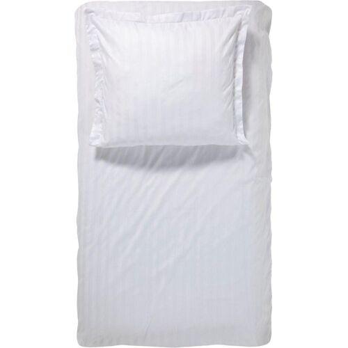 damai Bettwäsche »Streifsatin«, , mit dezenten Streifen, weiß