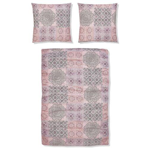 BIERBAUM Bettwäsche »Luca«, , im Patchwork Design, rosa