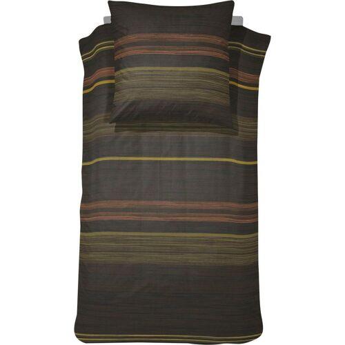 damai Bettwäsche »Harris«, , im speziellen Streifendesign, brown