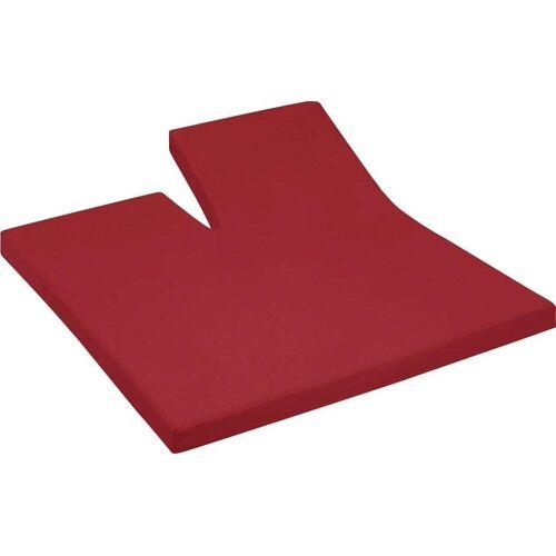 Cinderella Spannbettlaken »Jersey Split«, , für Split Topper, rot