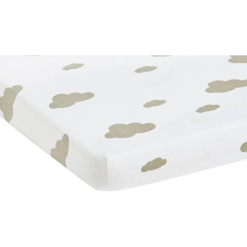 Pinolino® Spannbettlaken »Wölkchen«, , im 2-er Pack, grau