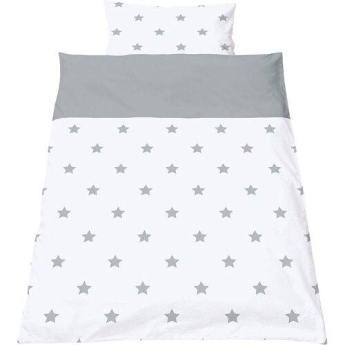Pinolino® Babybettwäsche »Sternchen«, , mit kleinen Sternen, grau