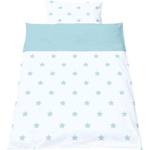 Pinolino® Babybettwäsche »Sternchen«, , mit kleinen Sternen, hellblau