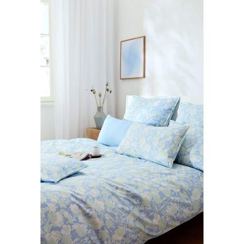 Elegante Bettwäsche »Shibui«, , mit wunderschönen Blüten, bleu