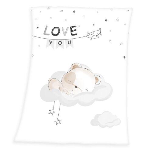 Baby Best Babydecke »Kleiner Bär - Soft Peach Decke von Herding, 75x100 cm«, , 100% Polyester