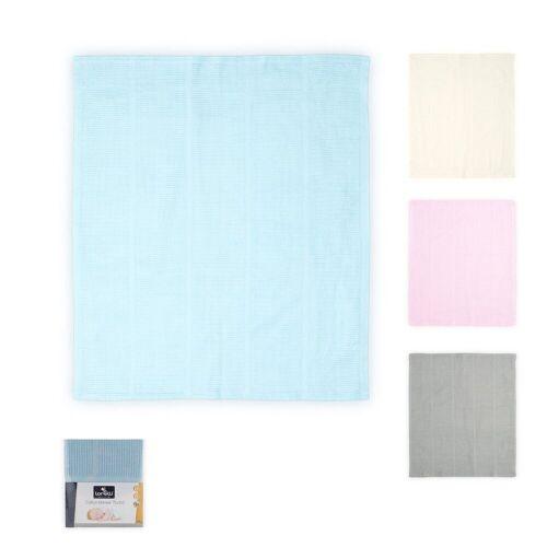 Lorelli Babydecke »Babydecke«, , Kuscheldecke Baumwolle, Größe 75 x 100 cm, ab Geburt, blau