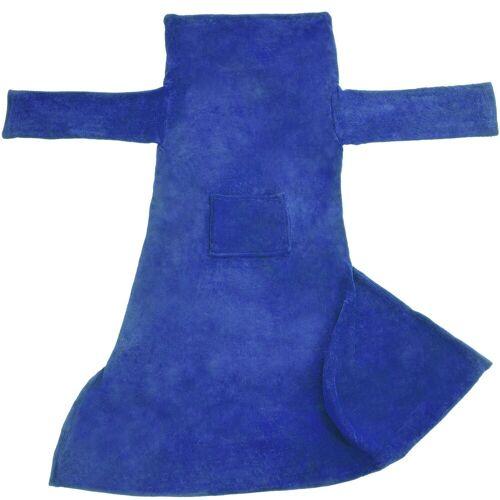 tectake Tagesdecke »Kuscheldecke mit Ärmeln«, , blau