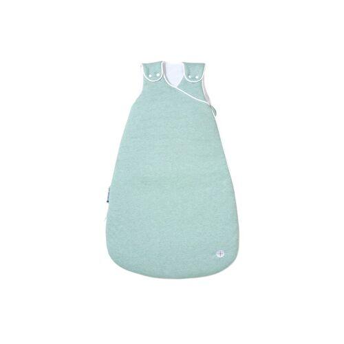 Nordic Coast Company Babyschlafsack, Baby-Schlafsack mitwachsend & atmungsaktiv I Kinderschlafsack waschbar I leichter Schlafsack I Baumwolle I Mint Grün