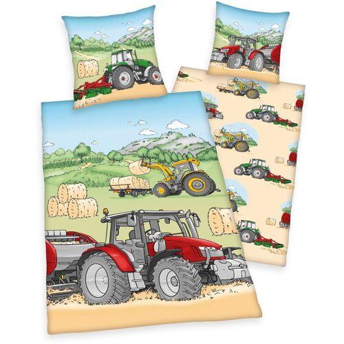 Herding Young Collection Kinderbettwäsche »Traktor«, , mit tollem Traktoren-Motiv
