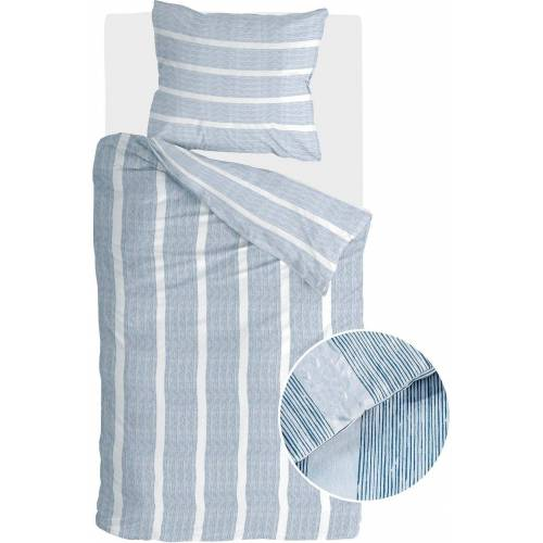 Walra Bettwäsche »Stripe Along«, , mit feinen Streifen, blau