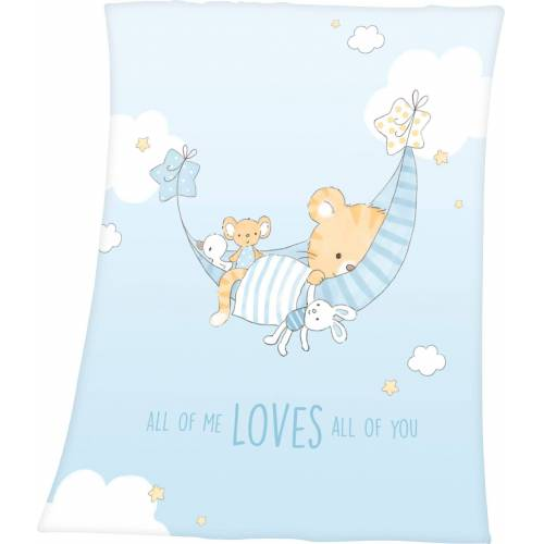 Baby Best Babydecke »Little Tiger«, , mit niedlichem Tiger-Motiv