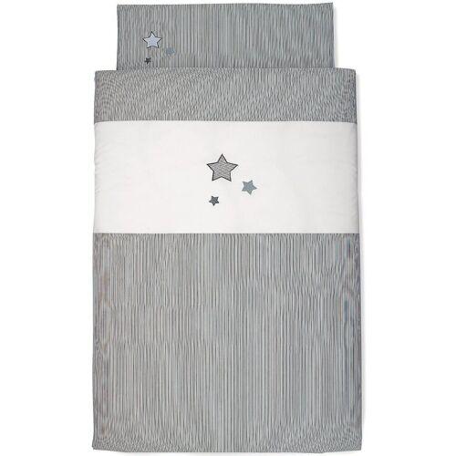 Sterntaler® Bettwäsche »Bettwäsche grau, 100 x 135 cm«, , grau/weiß