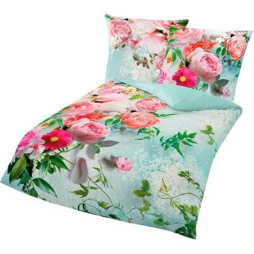 BIERBAUM Bettwäsche »Romantic«, , mit romantischen Blumen
