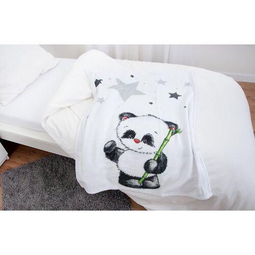 Herding Kinderdecke »Kuscheldecke Panda Fynn, 75 x 100 cm«,