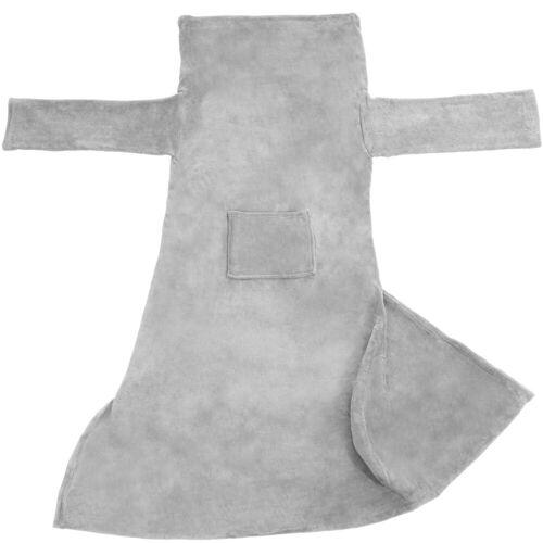 tectake Tagesdecke »Kuscheldecke mit Ärmeln«, , grau