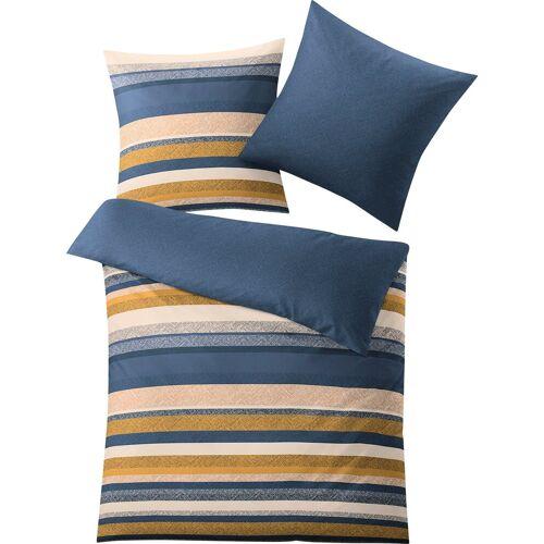 Kleine Wolke Bettwäsche »Horizon«, , mit Streifen, blau