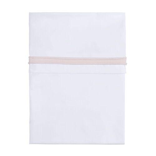 BabysOnly Spannbettlaken »Bettlaken klassisch rosa/weiß 100«,