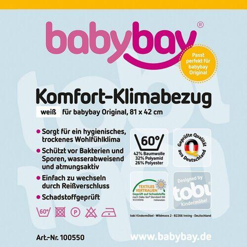 Tobi Bettlaken »Klima-Bezug für babybay original, 81 x 43 cm«,