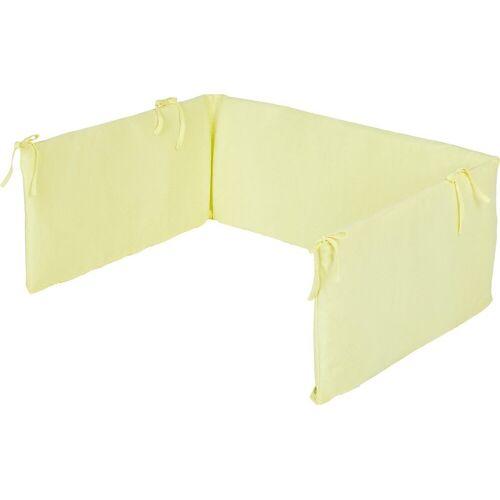 Pinolino® Bettnestchen »Nestchen für Kinderbetten, Jersey, weiß«, gelb
