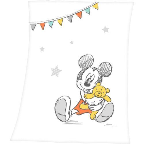 Disney Walt Disney Babydecke »Disney´s Mickey Mouse«, , mit niedlichem Mickey Mouse Design