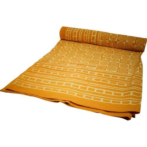 Guru-Shop Tagesdecke »Blockdruck Tagesdecke, Bett & Sofaüberwurf,..«,