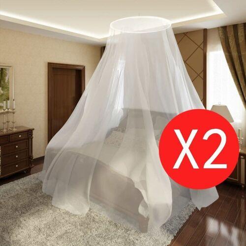 vidaXL Moskitonetz »Moskitonetz 2 Stk. Rund 56x325x230 cm«