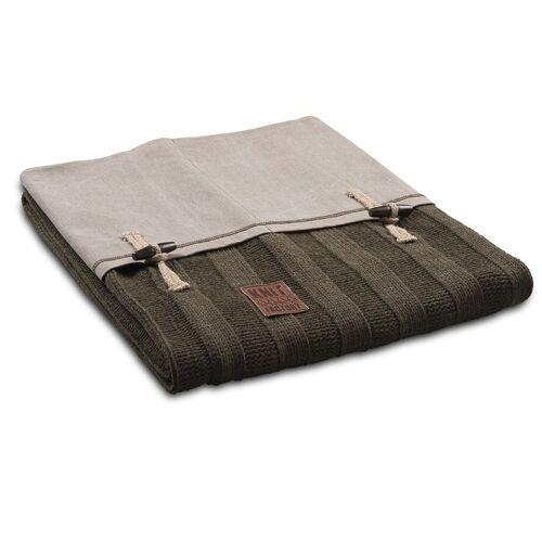 Knit Factory Wohndecke »6x6 Rib Plaid«, , Mode