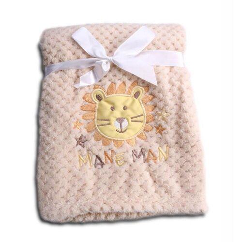 Cangaroo Babydecke »Babydecke Freya«, , Größe 80 x 110 cm kuschelige Babydecke aus Fleece, beige