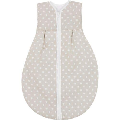 MyToys-COLLECTION Babyschlafsack »Sommer- Schlafsack Molton, Schlafmütze grün«, beige
