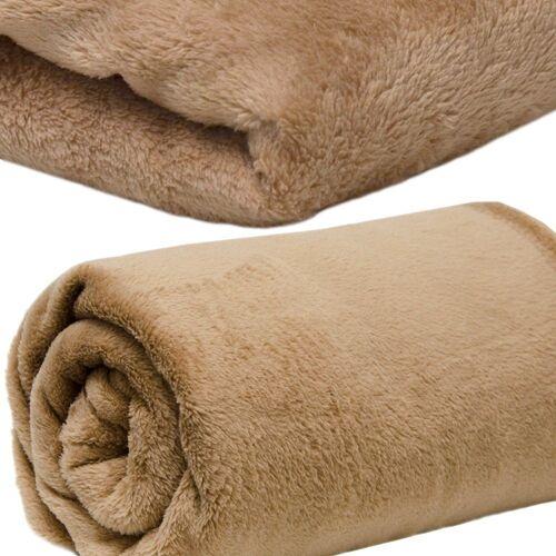 DuneDesign Wohndecke »Microfaserdecke Flausch Kuscheldecke Tagesdecke«, , Decke Wohndecke Plaid braun