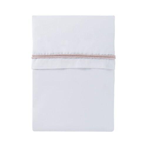 BabysOnly Spannbettlaken »Bettlaken weiß/klassisch rosa 100«,